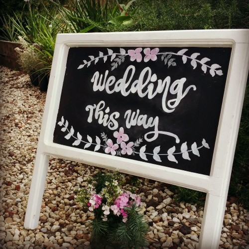 Wedding sign blackboard-hire Wedding-event hire Melbourne