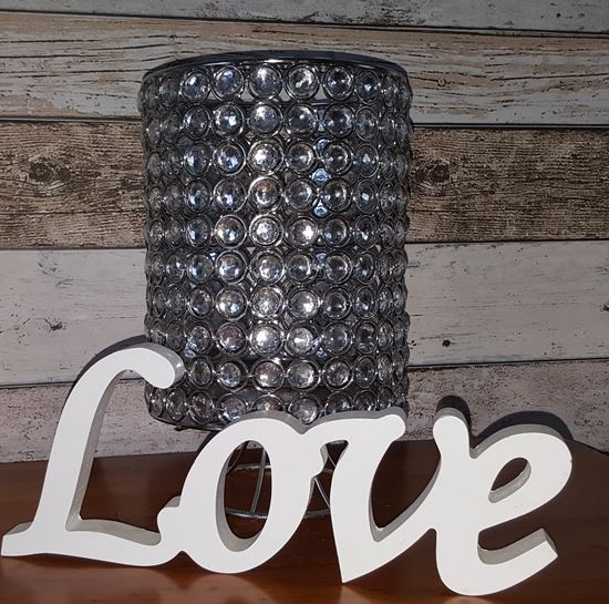 beaded candle holder hire