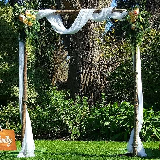 Wedding arbour with branches