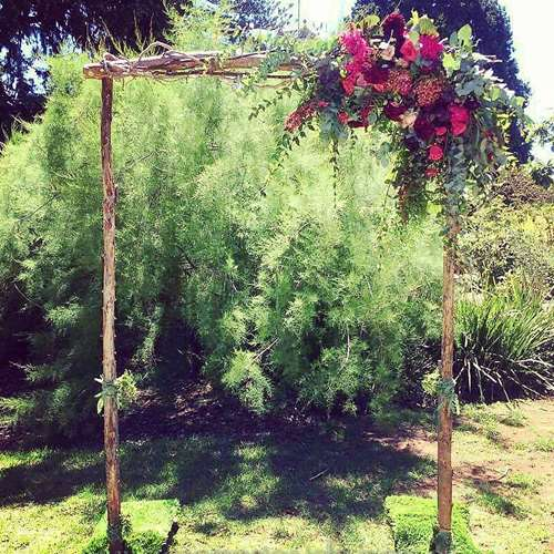 Wedding arch with fresh flowers