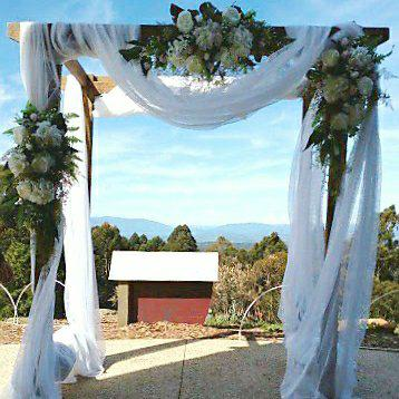 Wedding arch draping