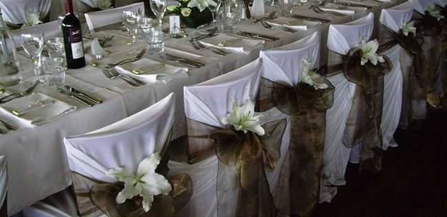 Chair covers with a flower