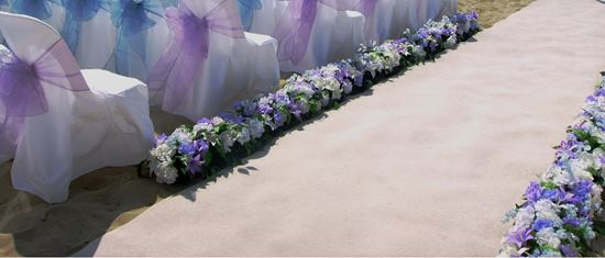 flower aisle decorations