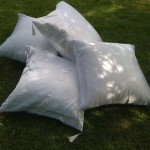 white picnic pillows for wedding