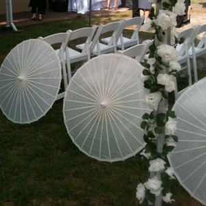 parasol wedding parasols aisle decoration