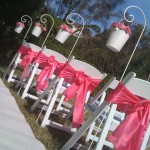 wedding aisle buckets