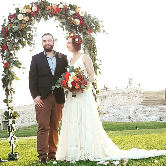 Wedding arch with foliage
