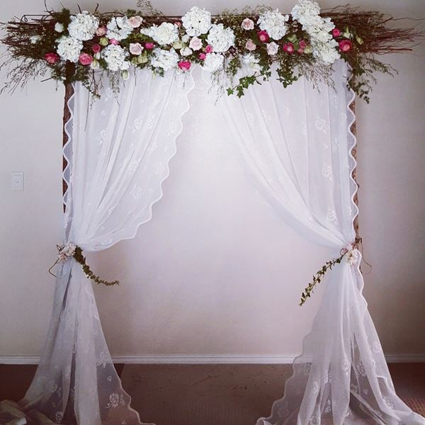 Vintage wedding backdrop