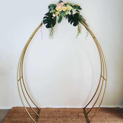 metal wedding arch