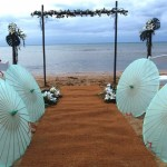 wedding parasol hire