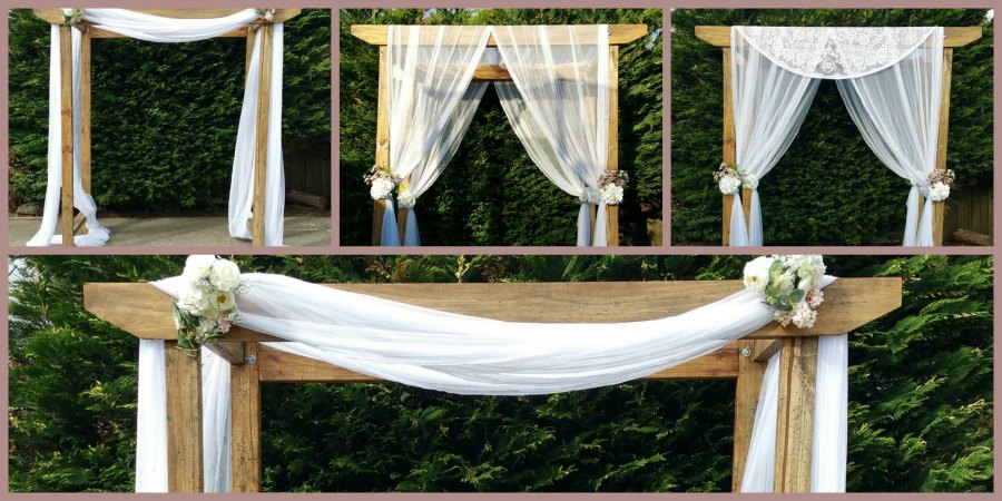 Rustic timber wedding arch for hire melbourne