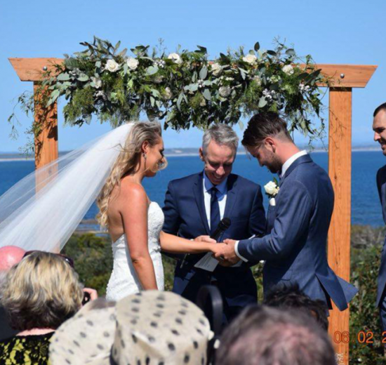 timber wedding arbor hire