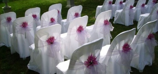 Wedding chair hire with flowers melbourne