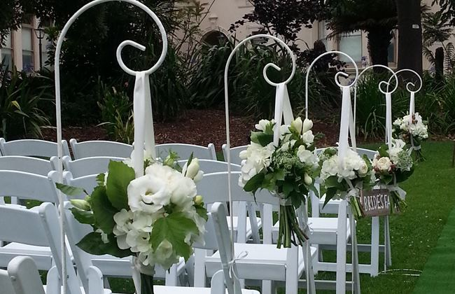 wedding ideas for aisle Shepherds hooks
