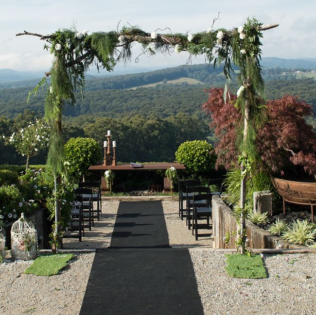 Forest wedding arch hire
