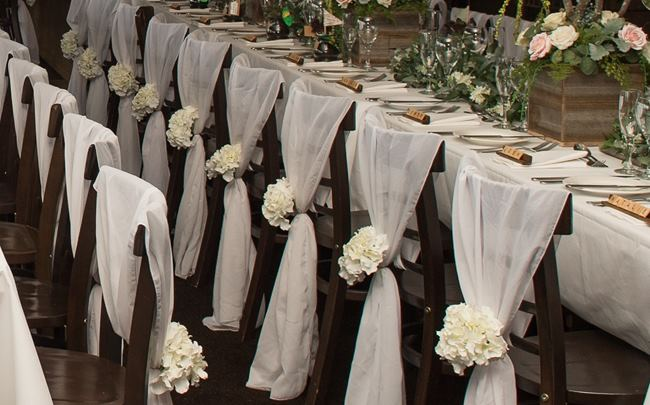 Chifon vertical sash chair covers