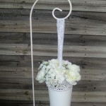 Wedding aisle flower bucket