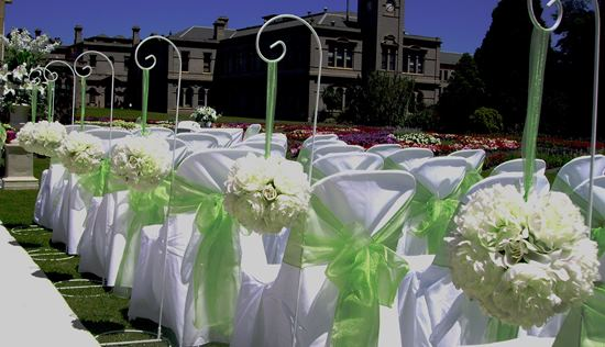 Shepherds hook wedding aisle decorations