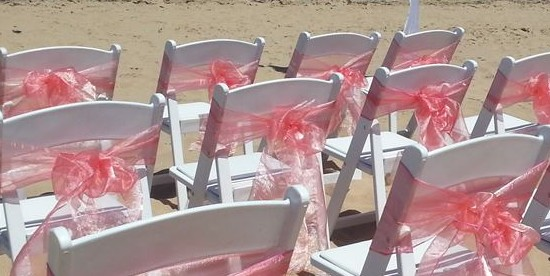 chair sash on wedding chairs