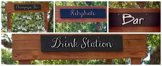 Chalk board drink signs
