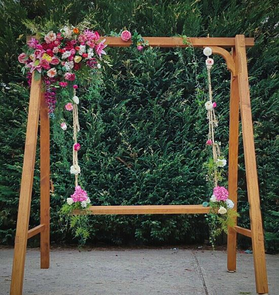 Wedding Swing with flowers