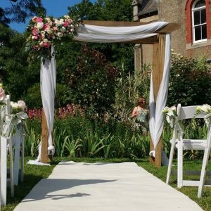 wooden wedding arch hire melbourne