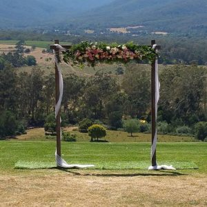Wooden wedding arbour melbourne