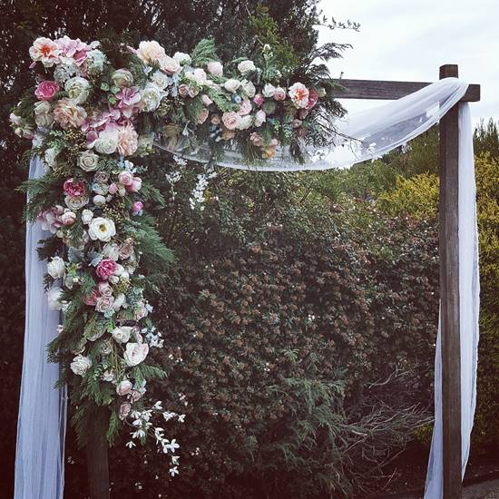 Rustic Wedding Decorations Hire: Weathered Timber Wedding Arbour