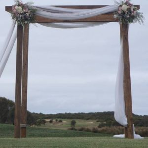 Wooden wedding arch ideas