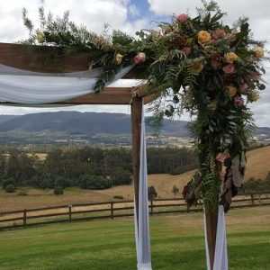 riverstone wedding arch set up
