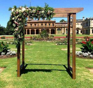 Werribee mansion wedding ceremony