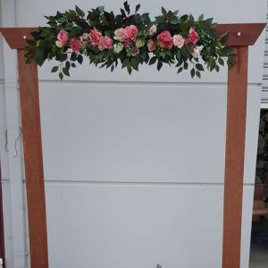 artificial wedding arch flowers