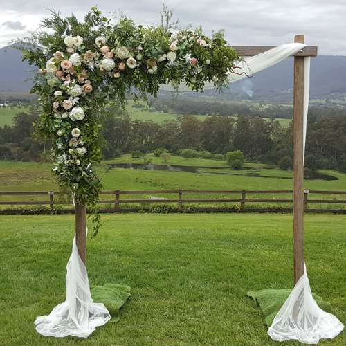 Wedding Arch Flowers Diy: Wooden Wedding Arches, Wooden Wedding Arbours- Melbourne