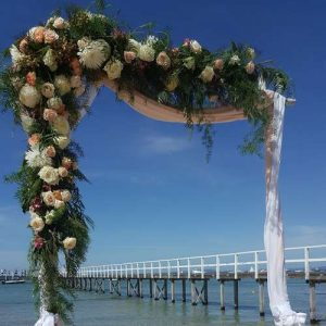Beach wedding arbour