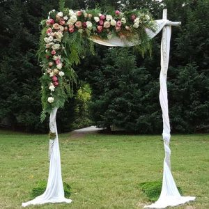 Wedding arbour with fresh flowers