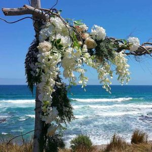 Wedding arch with wisteria