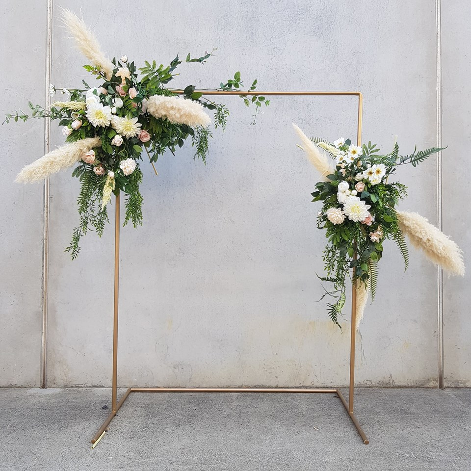 pampas wedding arch